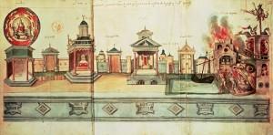 ユベール・カイヨー「1476年ヴァレンシエンヌでの受難劇の細密画」