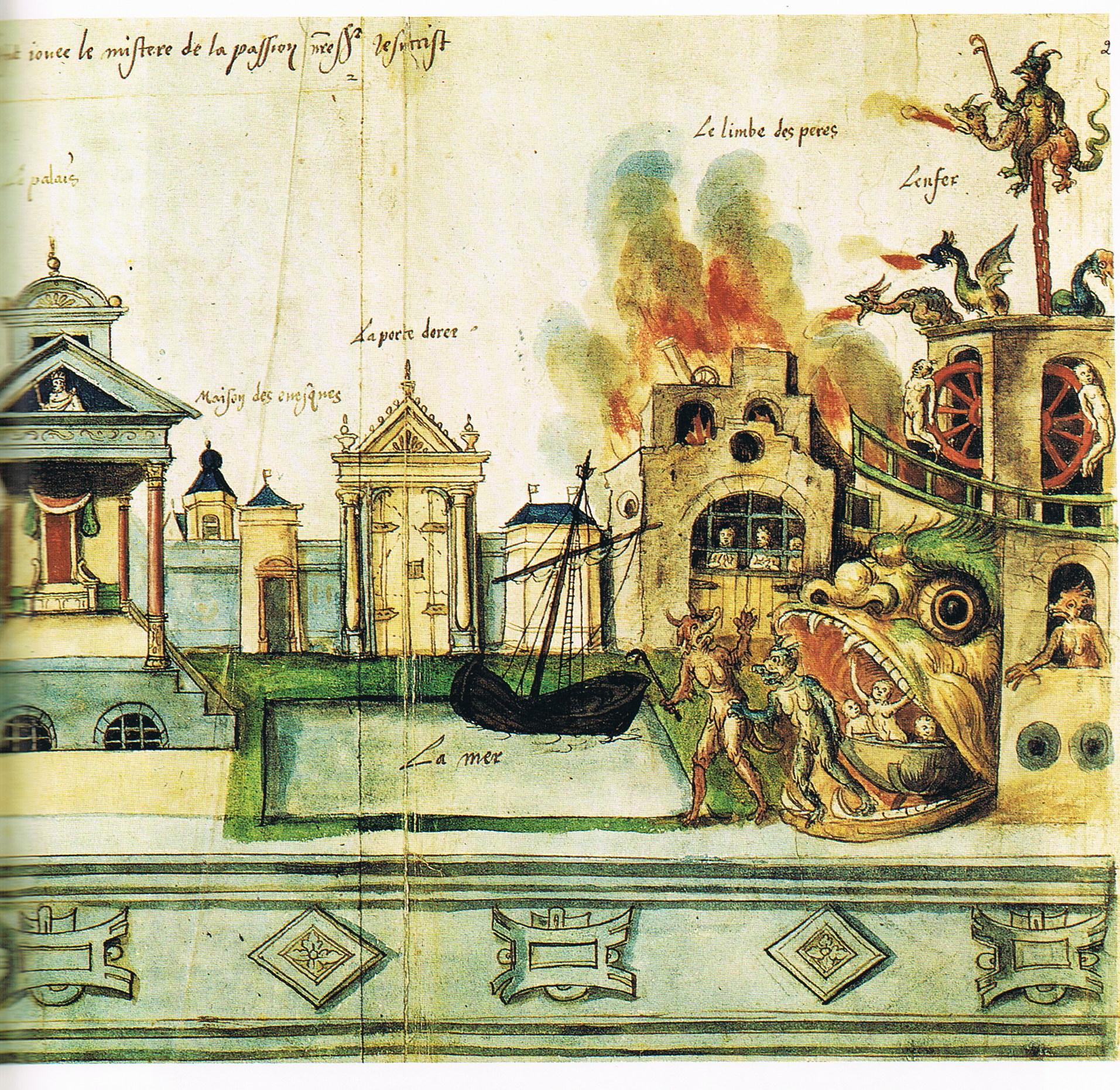 ヴァレンシエンヌ聖史劇の地獄の舞台装置